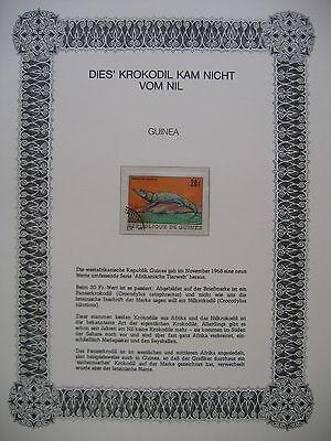IRRT MER AUF BRIEFMARKEN GUIN E 1968 GUINEA MI 498 AFRIKANISCHE TIERWELT