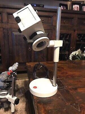 Leitz Wetzlar Microscope Focusing Lamp Housing With Stand Base