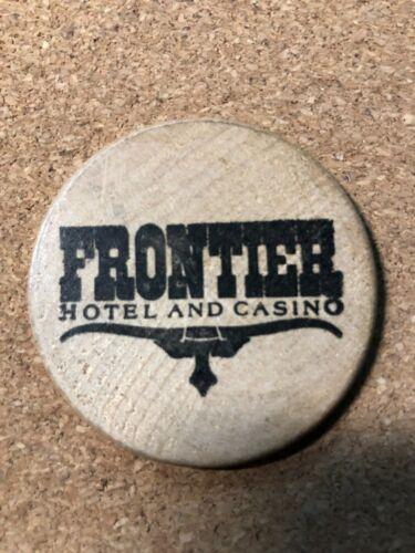 Vintage Frontier Hotel & Casino Las Vegas wooden token  Free Shipping