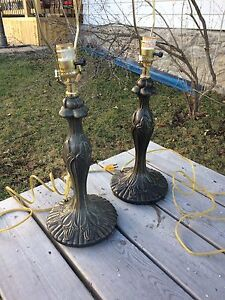 2 Heavy Metal Vintage Lamps