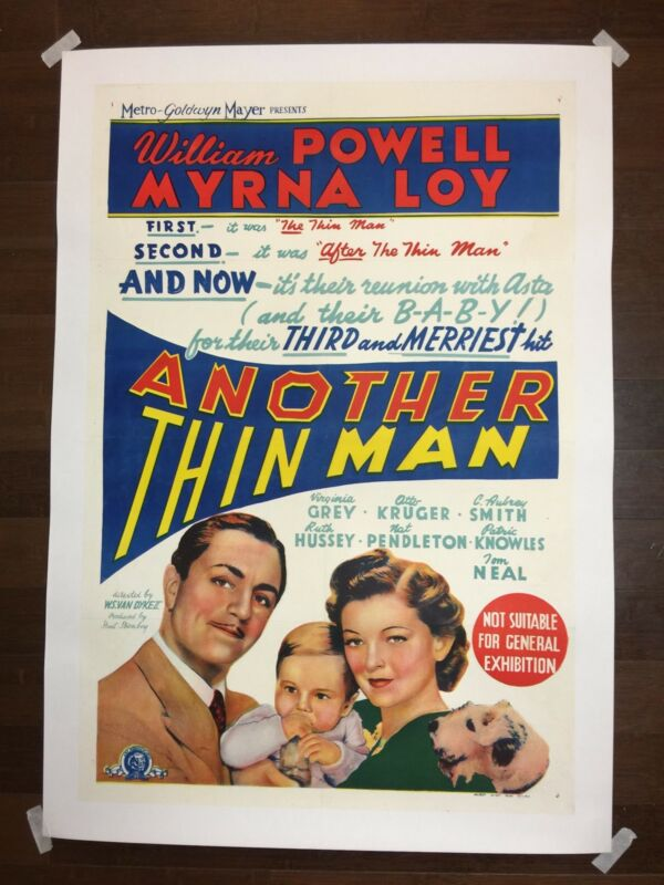 Another Thin Man (1939) Australian One Sheet Movie Poster LB