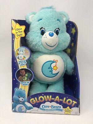 Care Bears Glow A Lot Bedtime Bear Plush Glow In Dark Collectible American Greet