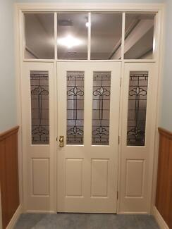Internal Leadlight Doors and surround & White doors for sale | Building Materials | Gumtree Australia ...