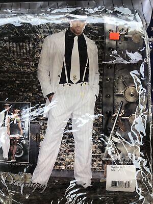 1940s Men's Shirts, Sweaters, Vests Zoot Suit Adult 1940s Gangtser Costume Smooth Criminal Halloween Size XL $39.99 AT vintagedancer.com