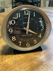 Vintage Westclox Big Ben Wind-Up Working Alarm Clock Non Illuminous