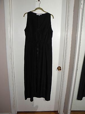 G By Giuliana Rancic Black Womens Maxi Dress W Hi Low Hem  Xl