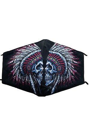 Stoffmaske,Mundschutzmaske,Nasenschutz,Behelfsmaske,Trend2021 Totenkopf Indianer