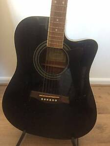 Black Ibanez Electro Acoustic Guitar, plus Stand & Hard Case Surry Hills Inner Sydney Preview