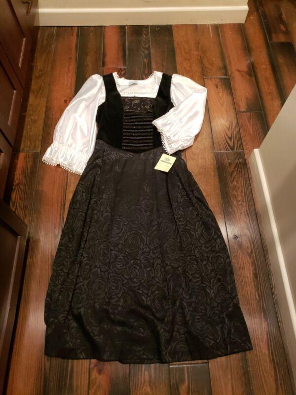 Mosser & Göttlicher Vintage Medieval Renaissance Dirndl Romantic Goth Dress