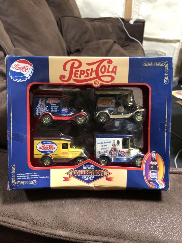Pepsi-Cola- Vintage Delivery Trucks- Die Cast 1:64 Scale Box Is Rough But Sealed