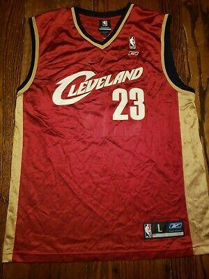 Lebron James Cleveland Cavaliers NBA Basketball Mens Jersey L Reebok #23