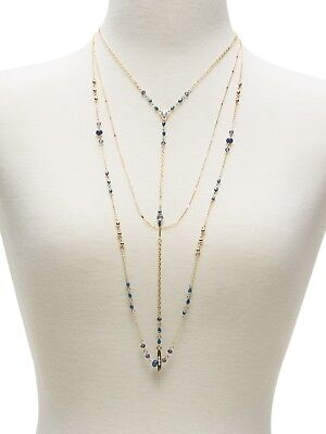 New Gold Delicate Y Bead Necklace from Banana Republic $34.99 Tags #BRN19