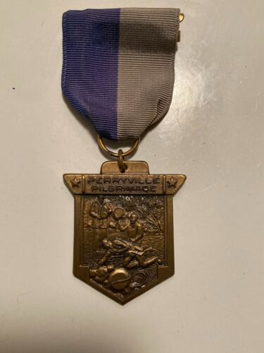Boy Scout BSA Perryville Kentucky Pilgrimage Dry Canteen Dug Ribbon Trail Medal