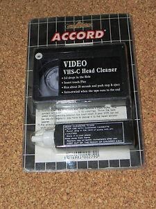 Pulisci-testina-video-per-videocamera-VHS-C-nastro-di-pulizia-con-liquido-VHSC