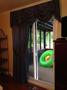 Patio door curtains w rods and header