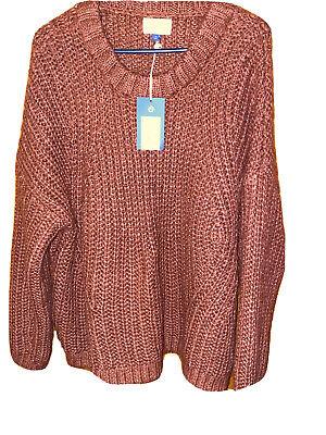 Women's Crewneck Chunky Pullover Sweater - Universal Thread - Rust Color - XL