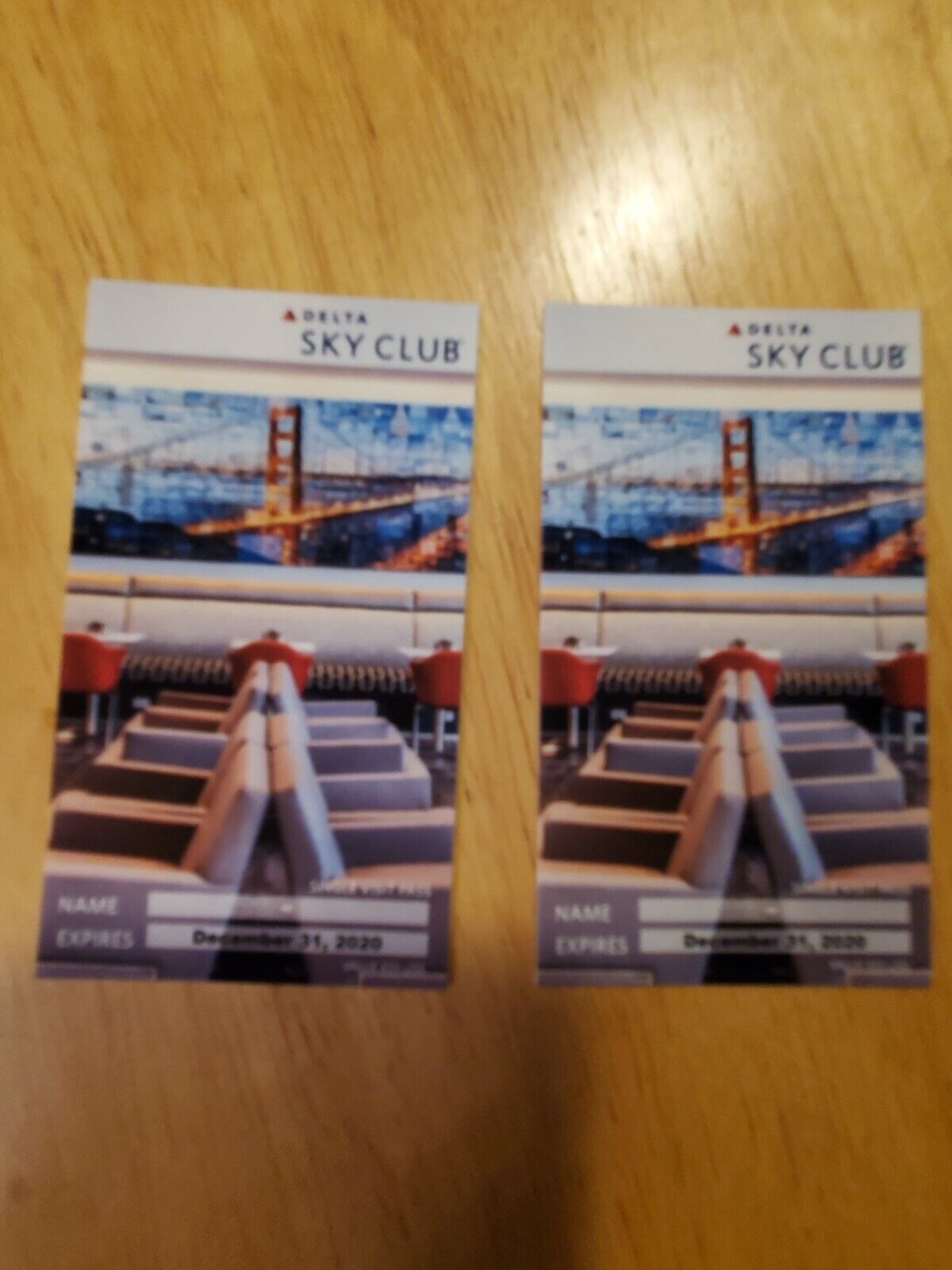 2x Delta Sky Club Pass - Expiration 12/31/20 - $57.99