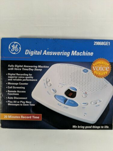 GE Digital Messaging Digital Answering Machine 29868GE1 20 M