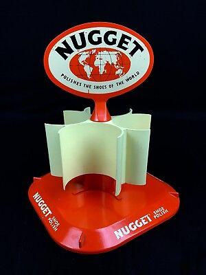 Vintage Shop Display Nugget Shoe Polish Holder / Dispenser / Advertising / Rack