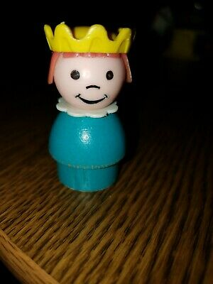 Vintage Fisher-Price Little People 993 Castle Princess Wooden Body (2