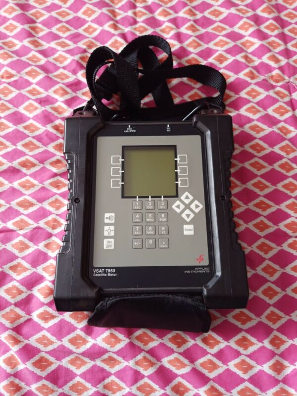 Applied instruments VSAT 7850 Satellite Meter Great Condition Good Battery