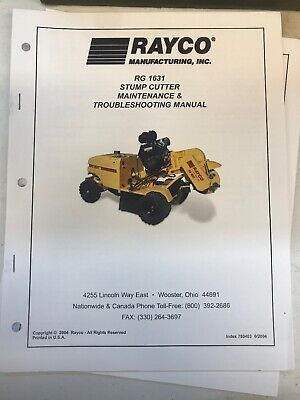 Rayco Rg1631 Maintenance Manual