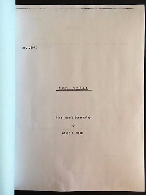 THE STING Oscar Winning Screenplay by DAVID S. WARD Paul Newman, Robert Redford