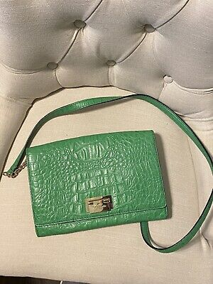 Authentic Kate Spade Green Leather Alligator-Embossed Bag.