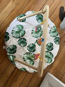 Baby play mat and play mobile