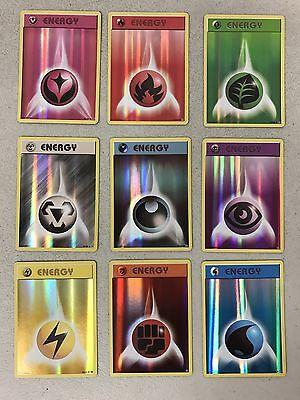 Pokemon TCG XY EVOLUTIONS : FULL 9-CARD REVERSE HOLO ENERGY SET MINT