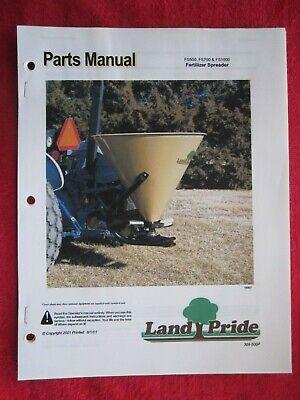 2001 Land Pride Fs500 Fs700 Fs1000 Fertilizer Spreader Parts Manual