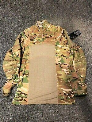 USGI MULTICAM ARMY ZIP NECK COMBAT SHIRT TYPE II FR MEDIUM NWT