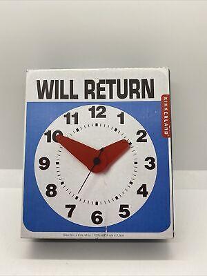 Kikkerland Design Will Return Novelty Wall Clock New Retro Funny Classic NIB