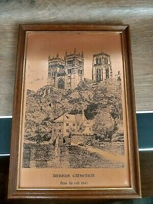 Vintage Picture, Copper Etched, Durham Cathedral, England