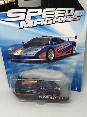 RARE Hot Wheels Speed Machines '96 MCLAREN F1 GTR Blue/Orange- CHEAP