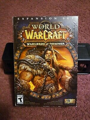 WORLD OF WARCRAFT  WARLORDS OF DRAENOR  EXPANSION SET  4 DISC SET  PC