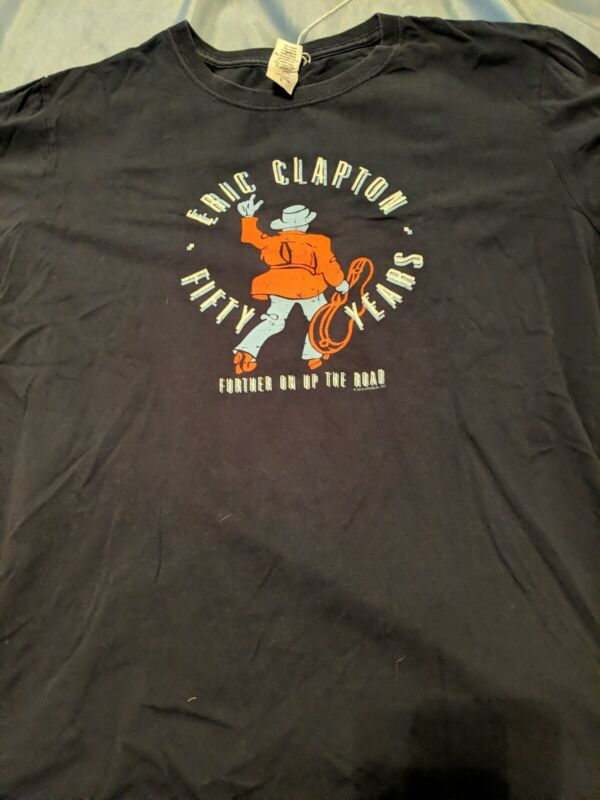 Eric Clapton Fifty Years Tour 2013 Further On Up The Road Large Shirt