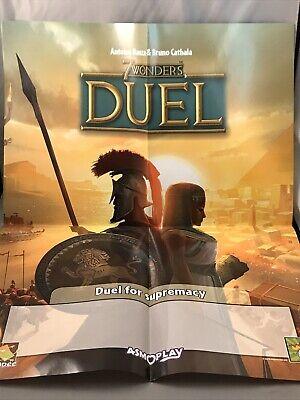Board Game 7 Wonders Duel- Poster and Tournament Sheets, plus Takenoko Poster.
