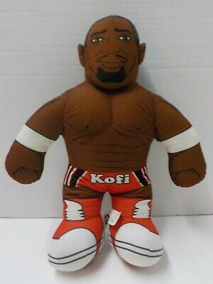 "D 2012 WWE New Day KOFI KINGSTON Brawlin Buddies Wrestler Plush Doll 16"""