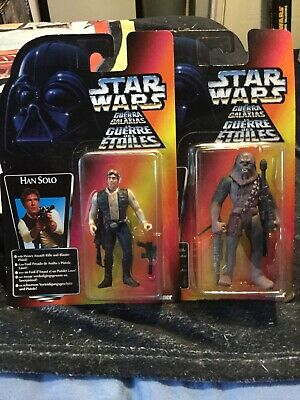 STAR WARS- HAN SOLO AND CHEWBACCA FIGURE SET -KENNER(1996)