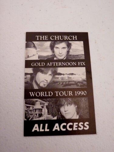 The Church Gold Afternoon Fix World Tour 1990 All Backstage Concert Pass
