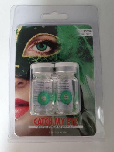 Aricona Farblinsen deckend grüne Magic Green Eye Kontaktlinsen farbig grün EA5