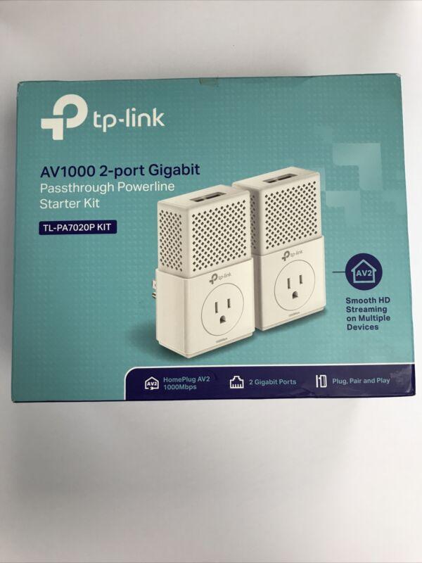 TP-Link AV1000 Powerline Ethernet Adapter(TL-PA7020P KIT)- Gigabit Port