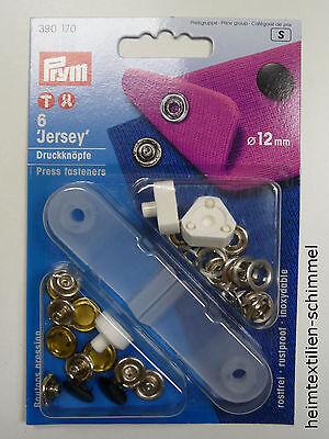 PRYM Jersey Druckknopf Druckknöpfe 12mm schwarz 390170