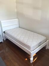 Single White Bed With Mattress New Lambton Heights Newcastle Area Preview