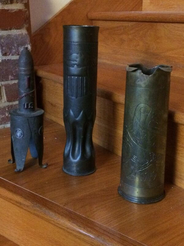 THREE Magnificent WWI Trench Art Shells !