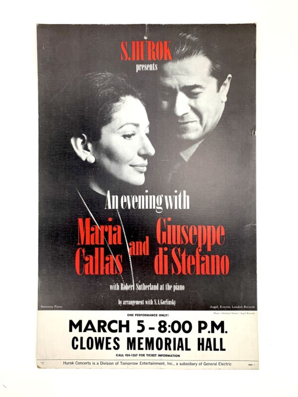 An Evening with Maria CALLAS & Giuseppe DI STEFANO - Poster (OPERA) (SOPRANO)