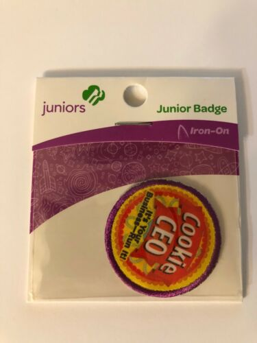 Girl Scout JUNIORS Badge ~ COOKIE CEO ~ new in package - made in china