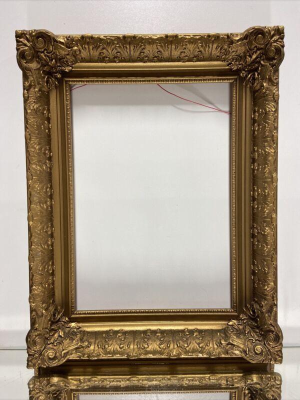 VTG. Antique Picture Frame Empire Acanthus Leaf Wood Gold