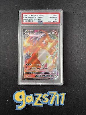 2020 Charizard VMAX 020/189 Darkness Ablaze F.A. Pokemon - PSA 10 GEM MINT